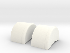 1/43 40 Inch Wheel Tubs in White Processed Versatile Plastic