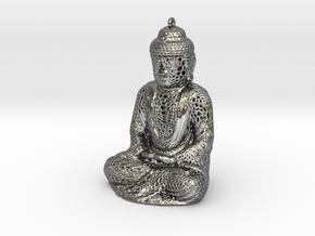 Buddha Pendant in Premium Silver