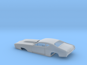 1/64 69 Chevell Pro Mod One Piece Body in Frosted Extreme Detail