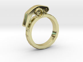 The Gringade - Grenade Ring (Size 8.5) in 18k Gold Plated Brass