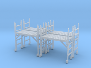 Scaffold 01. HO Scale (1:87) in Smooth Fine Detail Plastic