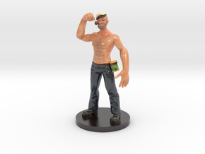Popeye Toy in Glossy Full Color Sandstone