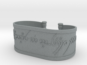 Inscribed Elven Bracelet in Polished Metallic Plastic