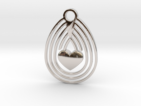 Egg & Love in Rhodium Plated Brass