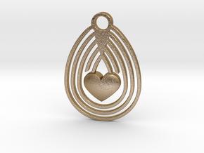Egg & Love in Polished Gold Steel