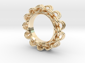 Chainmail Ring Pendant in 14K Yellow Gold