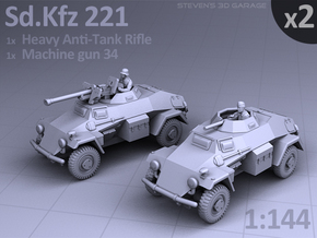 Sd.Kfz 221 (2 pack) in Smooth Fine Detail Plastic