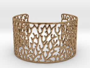 Cuff ' Coral ' in Polished Brass
