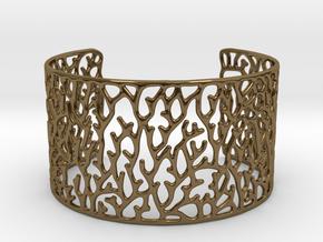 Cuff ' Coral ' in Polished Bronze