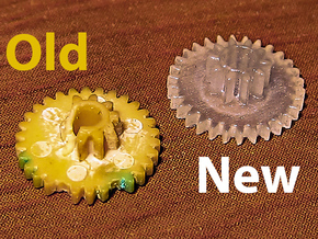 4 x Gears for Macintosh 512k Vintage Floppy Drive  in Frosted Ultra Detail