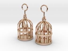 Birdcage Earrings in 14k Rose Gold