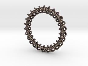 Spinning Bracelet in Polished Bronzed Silver Steel