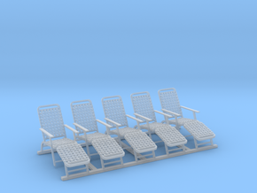 1/96 Deck Chairs (United States Lines) in Frosted Extreme Detail