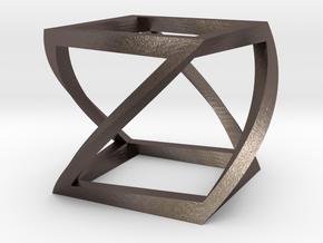 FLEX TWIST in Polished Bronzed Silver Steel