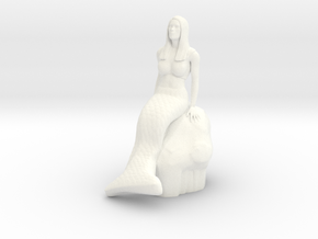Mermaid in White Processed Versatile Plastic