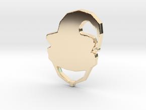 JOEKA Modern Logo in 14k Gold Plated Brass
