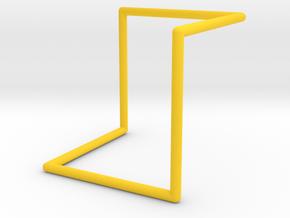 Single Loop Pendant in Yellow Processed Versatile Plastic