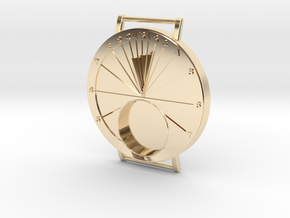 27.75N Sundial Wristwatch For Working Compass in 14k Gold Plated Brass