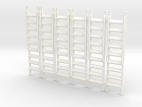 Ladder 01. O Scale (1:43) in White Processed Versatile Plastic