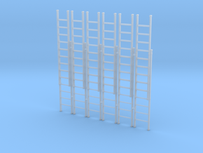 Ladder 02. O Scale (1:43) in Smooth Fine Detail Plastic