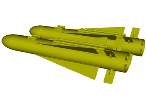 1/18 scale Hughes AGM-65 Maverick missiles x 2 in Smooth Fine Detail Plastic