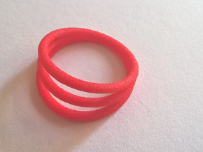 Ring ring Thik - size 52 in Red Strong & Flexible Polished