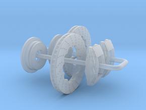 1/43 Modern 11.6 Inch Diam 4 Piston Disk Brake Set in Smoothest Fine Detail Plastic