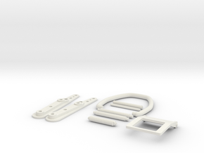 Apollo A7L Spacesuit Front Buckle in White Natural Versatile Plastic