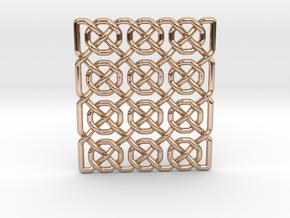 0514 Celtic Knotting - Ibain Grid [p49] in 14k Rose Gold