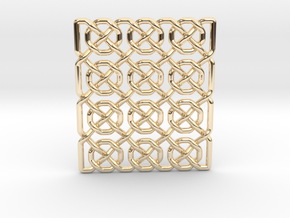 0514 Celtic Knotting - Ibain Grid [p49] in 14k Gold Plated Brass