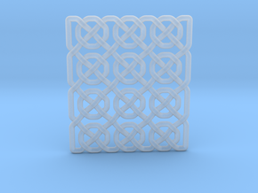 0514 Celtic Knotting - Ibain Grid [p49] in Smooth Fine Detail Plastic