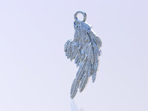 Angel Wing in Polished Silver