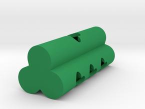 Clover Dice (d3/d4/d6/d8) in Green Processed Versatile Plastic: d3