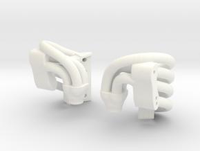 SDE RR10 Bomber Overhead Headers  in White Processed Versatile Plastic