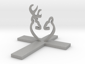Cross&Deer Small in Aluminum