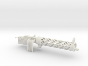 Spandau gun 1/12 in White Natural Versatile Plastic