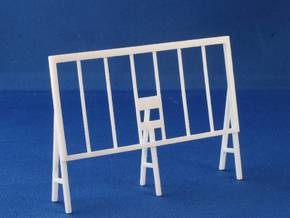 Wooden Billboard Frame HO Scale in White Strong & Flexible