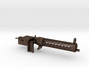 Spandau gun 1/10 in Polished Bronze Steel