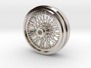 1/8 Wire Wheel Front, with 72 spokes in Rhodium Plated Brass