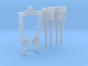 "Deago FALCON - 32"" Hollow Quad Laser Cannons Unit. in Smooth Fine Detail Plastic"