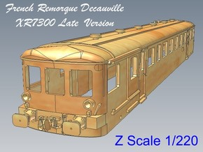 1-220 Remorque XR7300 Decauville  in Smooth Fine Detail Plastic