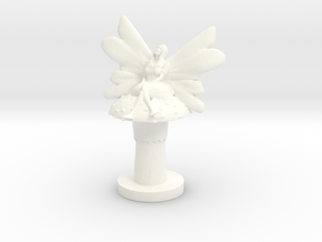 Fairy on Toadstool in White Processed Versatile Plastic