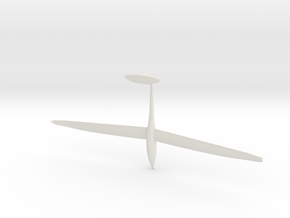 1/87th (H0) scale DG Flugzeugbau DG-1000 glider in White Natural Versatile Plastic