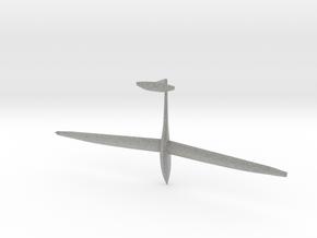 1/87th scale DG Flugzeugbau DG-1000 glider in Metallic Plastic