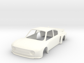Skoda 130RS Super Saloon race car slot body - 1:32 in White Strong & Flexible Polished