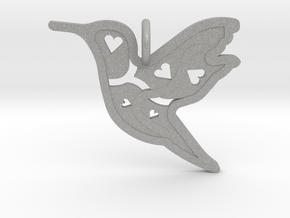 Pendant 'Bird' in Aluminum