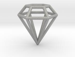 Pendant 'Diamond 3D' in Aluminum