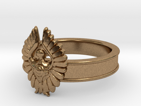 Baneful Bird Ring, Size 8.5 in Natural Brass