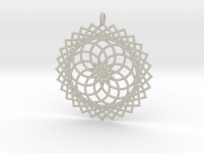 Flower of Life - Pendant 1 in Natural Sandstone