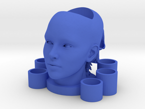 2 Heads Multi-candle Holder in Blue Processed Versatile Plastic